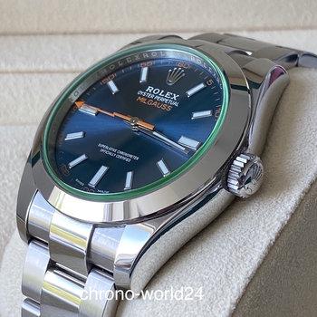 Rolex Milgauss 116400GV blue blau  2015/11 Box&Papers  LCEU TOP