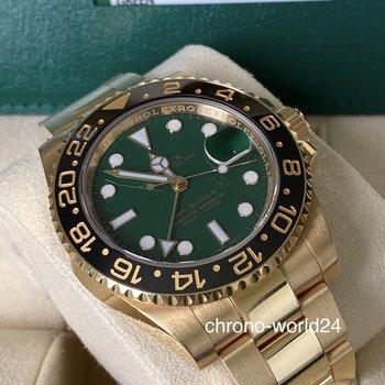 Rolex GMT-Master II 116718LN green,grün, unpolished, 2014 B&P TOP !!