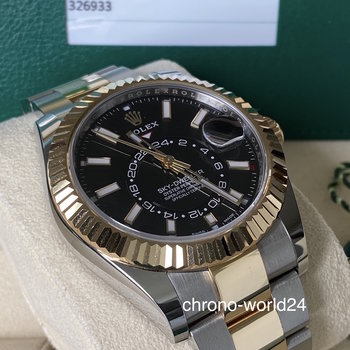 Rolex Sky-Dweller 326933 2019 black unpolished mint Full Set EU