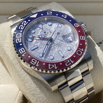 Rolex GMT-Master II 126719BLRO perfect Meteorite dial, EU, unworn 2019