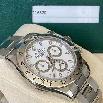 Rolex Daytona 116520 LC100 white APH dial, 2015, Box & Papers TOP
