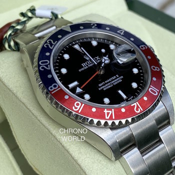 Rolex GMT-Master II 16710 Pepsi NOS 2006 D-Series, all stickers, unworn, B&P