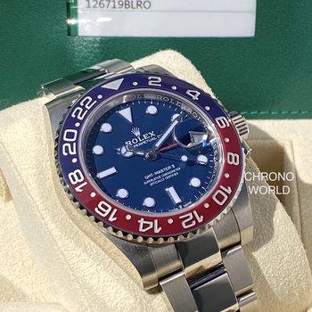 Rolex GMT-Master II 126719BLRO Pepsi unworn, 2020, Eu, blue, blau, B&P