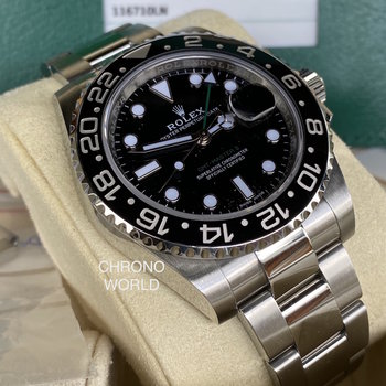 Rolex GMT-Master II 116710LN 2019 black, mint, EU, unpolished FULL SET