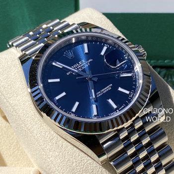 Rolex Datejust 41 126334 blue/blau, Eu, unworn, 2020  box/papers