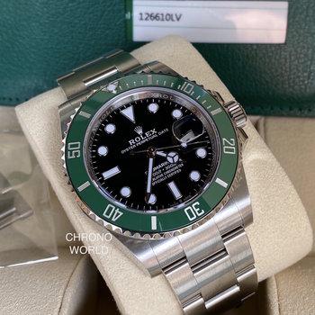 Rolex Submariner Date Ref.126610LV 41mm, Eu, 2020, unworn, B&P