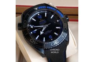 Omega Planet Ocean Deep Black Blue Gmt