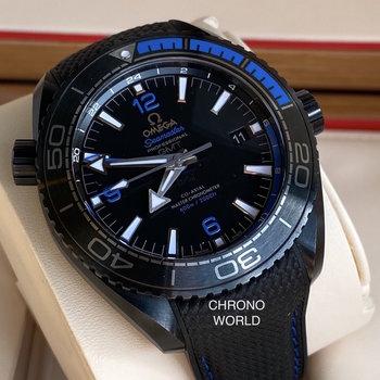 Omega Seamster Planet Ocean GMT Deep Black Blue, 2020, like new, Neuzustand, German, TOP
