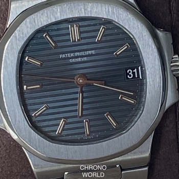 Patek Philippe Nautilus Ref.3800/1A-001 Blue, Patek Service 2019, Extract from the Archives TOP