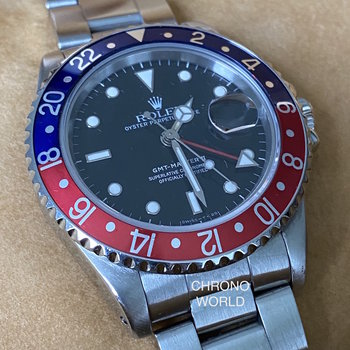 Rolex GMT-Master II 16710 Pepsi R7.. first series, Eu, 1989, box & papers