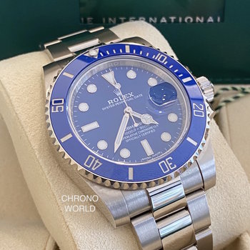Rolex Submariner Date 116619LB LC100 new card, smurf, 2020/10, Eu, Box&Papers
