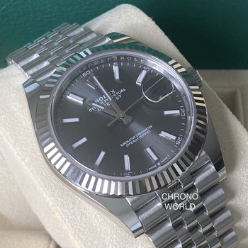 Rolex Datejust 41 Ref.126334 2020 dark rhodium, Eu, unworn, FULL SET