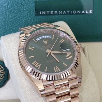 Rolex Day-Date 228235 2020 green dial, grün, unworn, Eu, Box &Papers