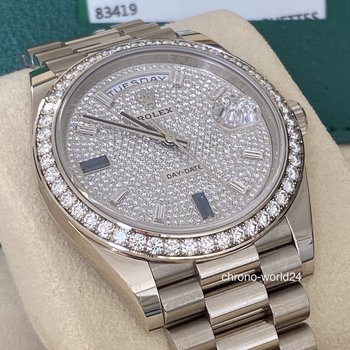 Rolex Day-Date 40 Ref.228349RBR 2018, unpolished, TOP, Box&Papers