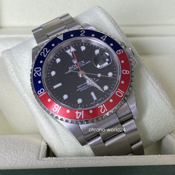 Rolex GMT-Master II 16710 Pepsi, 2006, unpolished, green sticker, Eu, Box&Papers
