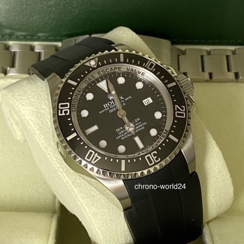 Rolex Deepsea Ref.116660 LC100, new Rolex Sevice 2020, FULL SET  & Rubber B