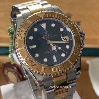 Rolex Yacht-Master Ref.168623 medium, 35mm, 2003, bue, blau, Eu, TOP, B&P