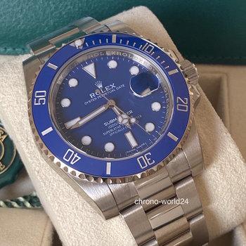 Rolex Submariner Date 116619LB NOS, verklebt, Eu, all stickers, 2018, unworn, Smurf, blue