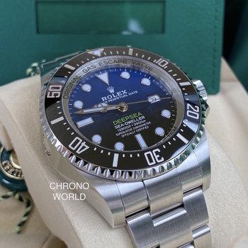 Rolex Deepsea D Blue Ref,126660 unworn, 2020, EU, new card, B&P
