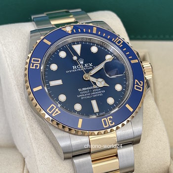 Rolex Submariner Date 126613LB blue, 2020, unworn, new card, EU, B&P