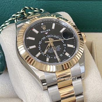 Rolex Sky-Dweller 326933 black, 2020, unworn, Eu, new Card, ungetragen, Box&Papers