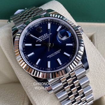 Rolex Datejust 41 126334 blue/blau, Eu, unworn, 2020/08  box/papers