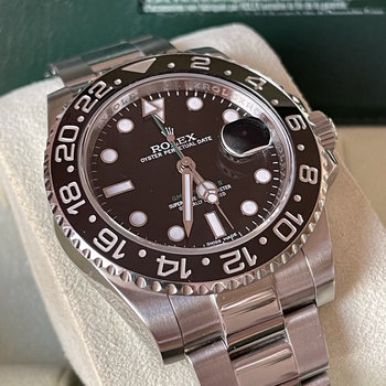 Rolex GMT-Master II 116710LN LC100, 2014, black, Box&Papers TOP