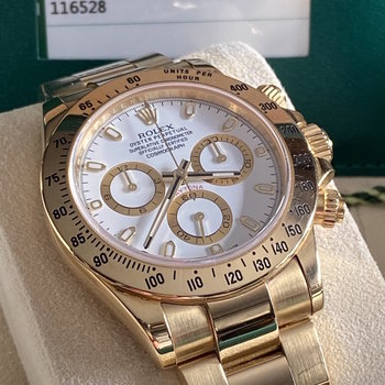 Rolex Daytona 116528 unpolished, 2015/12, Eu, orig. sales invoice, TOP, Box&Papers