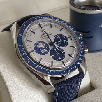 Omega Speedmaster Silver Snoopy Award 50th Anniversary, 2021, Box&Papers, Eu, unworn