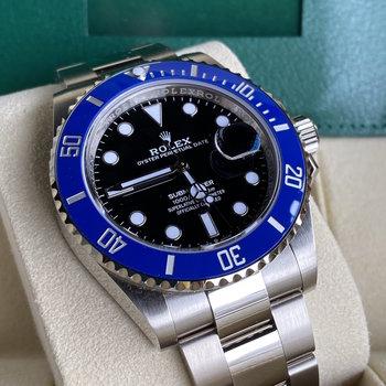 Rolex Submariner Date 126619LB new card, blau, blue, 2021, Eu, unworn