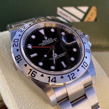 Rolex Explorer II Ref.16570 NOS, all stickers, G Series 2010, open paper, Eu