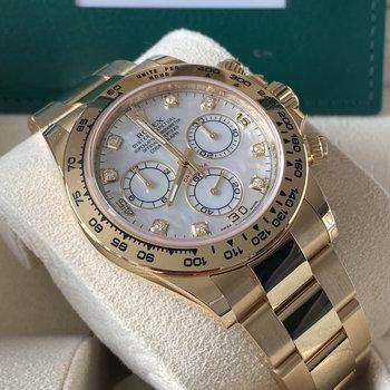 Rolex Daytona 116508 2020/12 MOP, EU, unworn, discontinued, mother of pearl