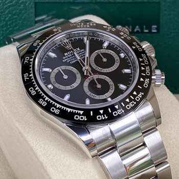 Rolex Daytona Ref. 116500LN  2021, Eu, unworn, some stickers, schwarz, ungetragen