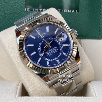 Rolex Sky-Dweller Ref. 326934  blau, blue, 2021, unworn  B&P