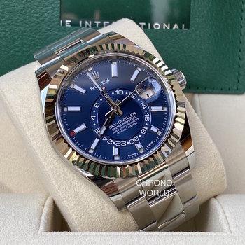 Rolex Sky-Dweller Ref.326934, Eu, blau, blue, 2021, unworn, ungetragen, B&P