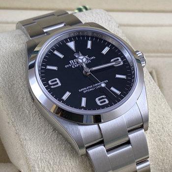 Rolex Explorer I Ref.124270 2021, unworn, Eu, ungetragen, Box&Papers