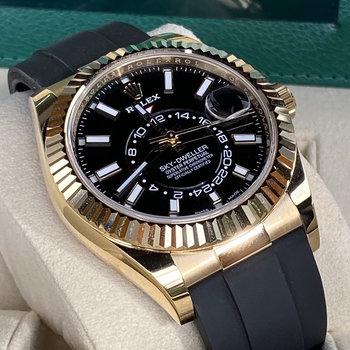Rolex Sky-Dweller 326238 black, 2021, unworn, Eu, new Card, ungetragen, Box&Papers