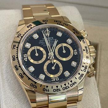 Rolex Daytona 116508 2021, EU, new black diamond dial, das neue Diamant Blatt