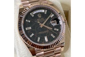 Rolex Day-Date  Ref.228235 Eisenkiesel, Baguette