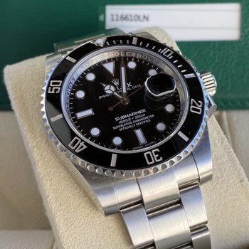 Rolex Submariner Date 116610LN LC100, 2017, Box & Papers, TOP, schwarz