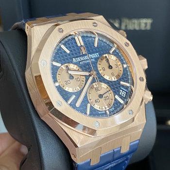 Audemars Piguet Royal Oak 26239OR.OO.D315CR.01 blue, blau, 2021, unworn, ungetragen, Eu, 41mm, Flyback