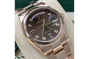 Rolex Day-Date Ref.118205, Ruby, dial, 2015/09