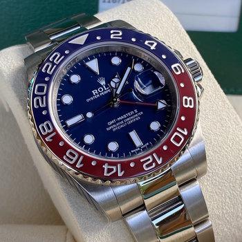 Rolex GMT-Master II 116719BLRO LC100, Pepsi , 2015, blau, blue, new Rolex Service 2021