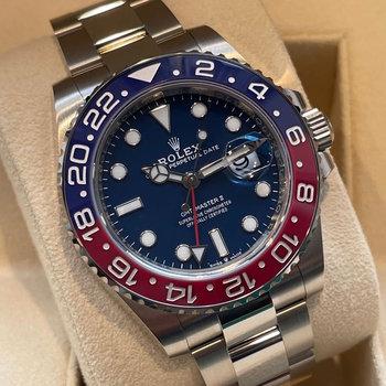 Rolex GMT-Master II 126719BLRO Pepsi, incl.Vat, 2021, Eu, blue, blau, unworn