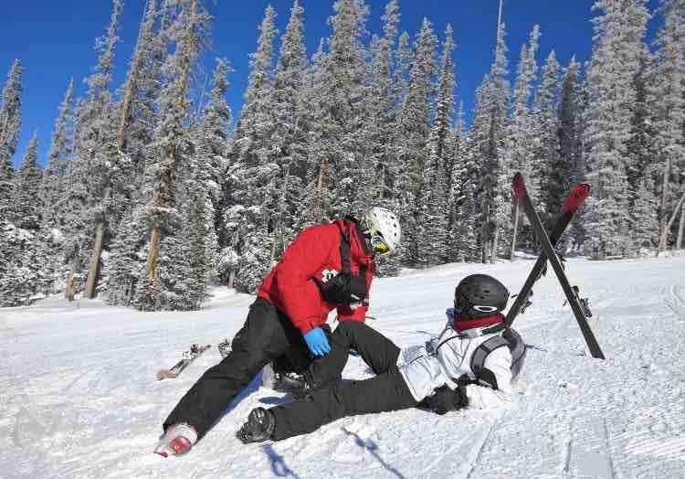 Kniebrace tijdens wintersport?