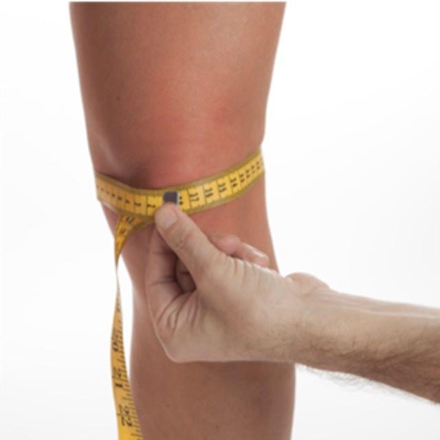 Measure knee size CARE genu knee brace