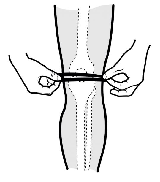 Knee brace size