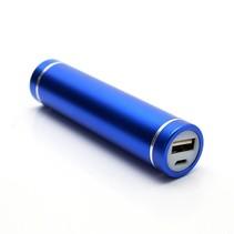 Metalen Mini Powerbank 2600 mAh - Blauw