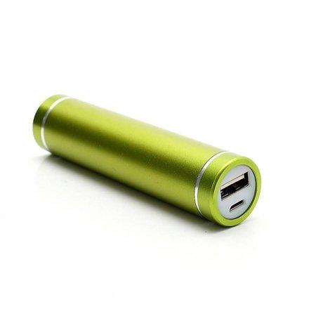 Metalen Mini Powerbank 2600 mAh - Groen