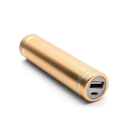 Metalen Mini Powerbank 2600 mAh - Goud